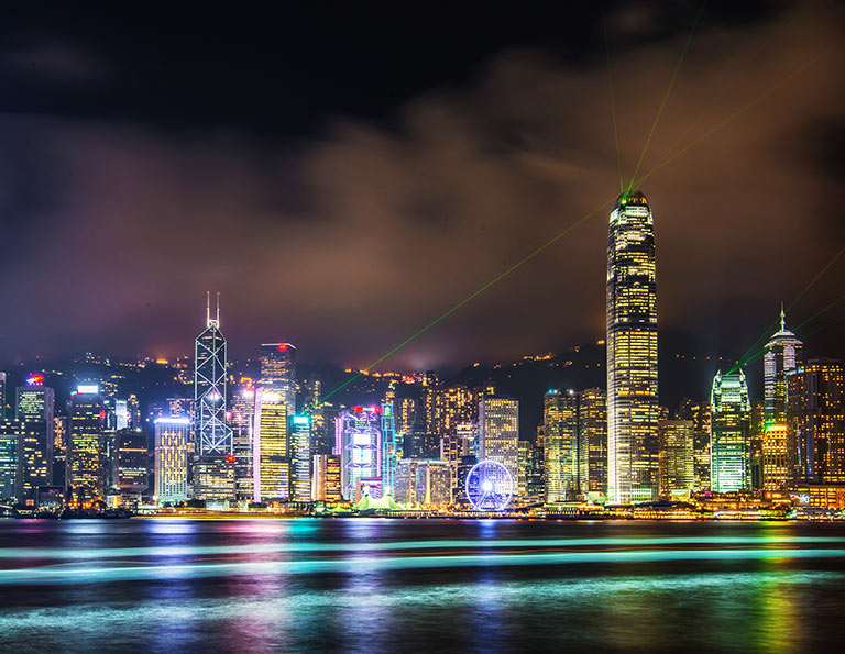 Victoria Harbor Amazing Night View