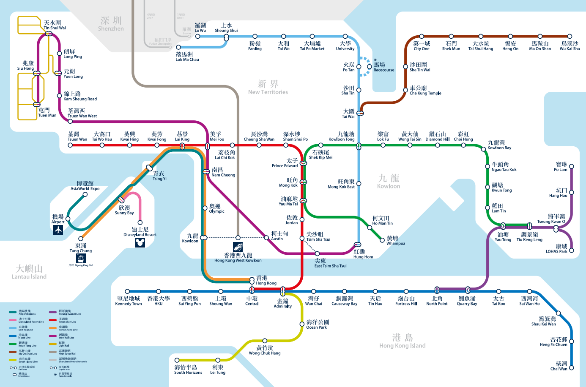 Subway Map Of Hong Kong.Hong Kong Mtr Map Hong Kong Metro Map Subway Lines Stations