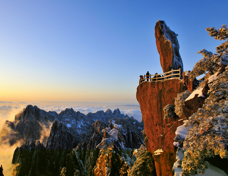 Flying-over-Rock Huangshan
