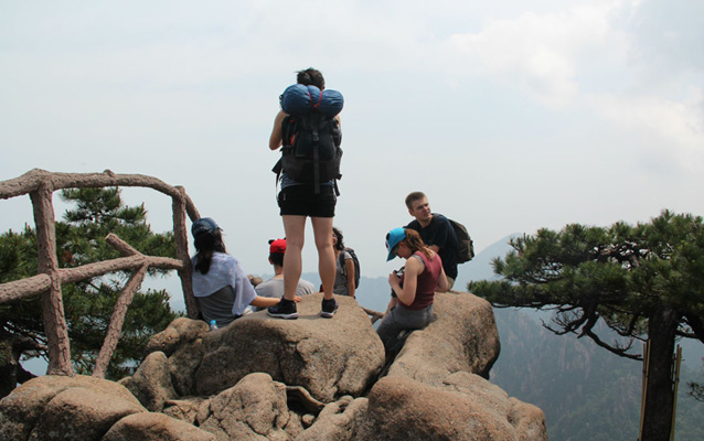 Mt. Huangshan Hikers
