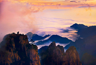 Back Huangshan Mountain