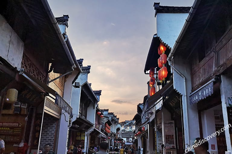 Tunxi Ancient Street in Sunny Day