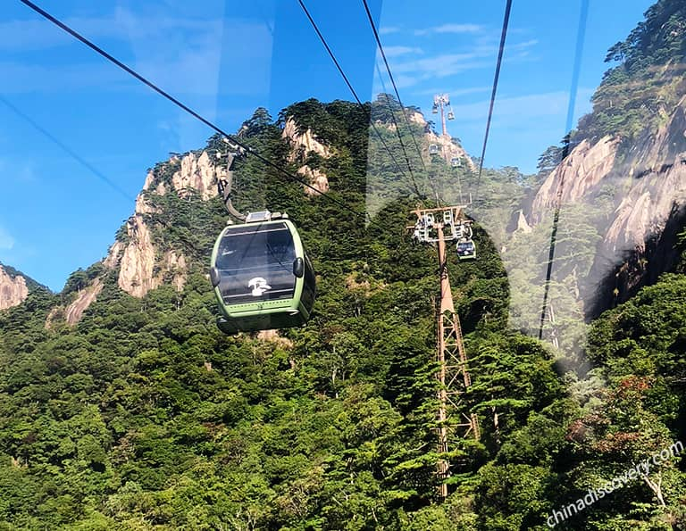 Yungu Cable Car on Mount Huangshan