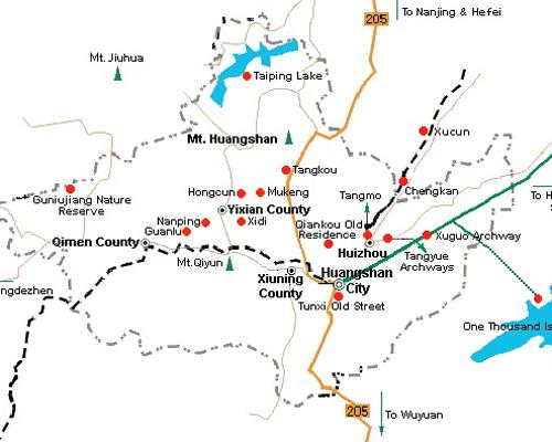 Image result for huangshan map