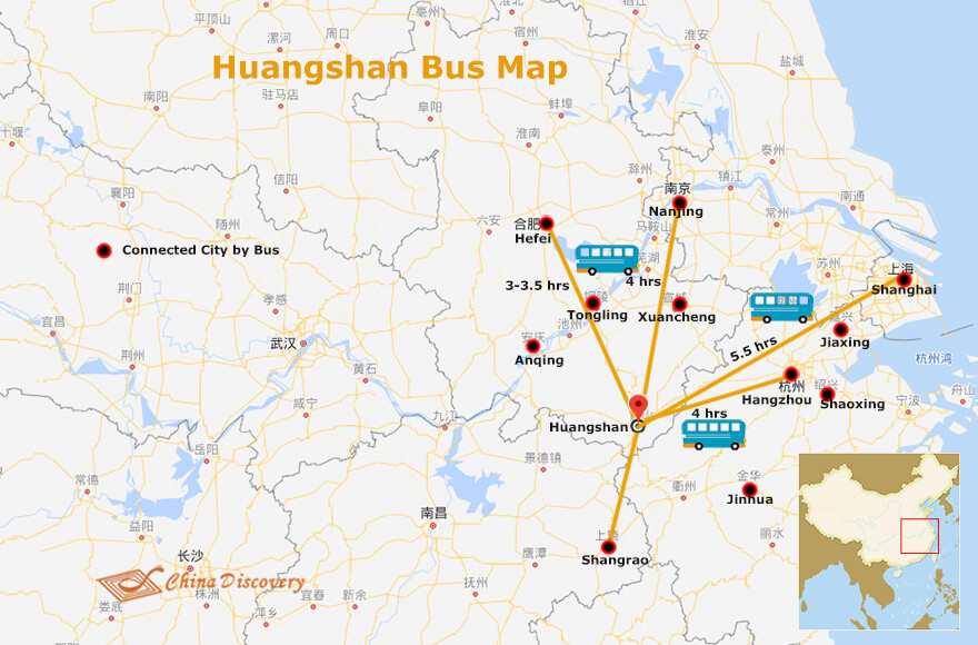 Huangshan Bus Routes Map