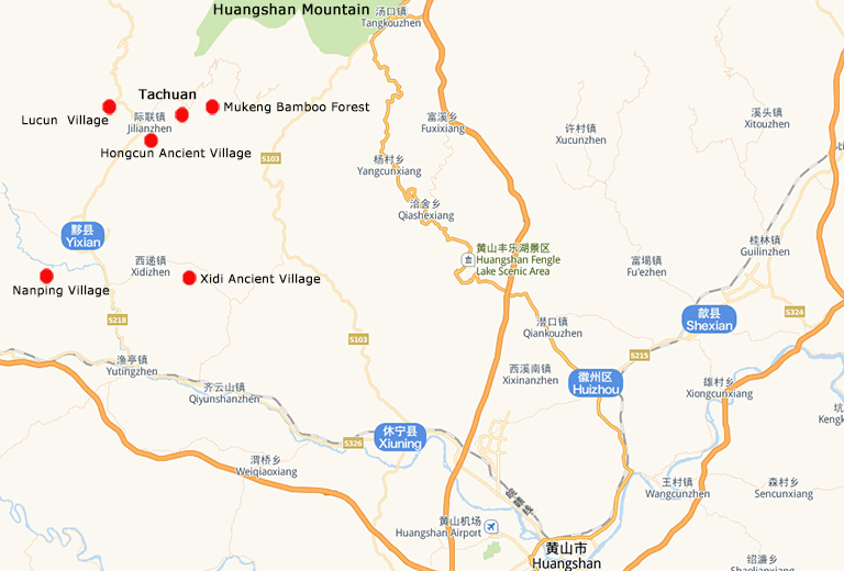 Mukeng Bamboo Forest Location Map