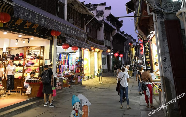 Tunxi Ancient Street evening