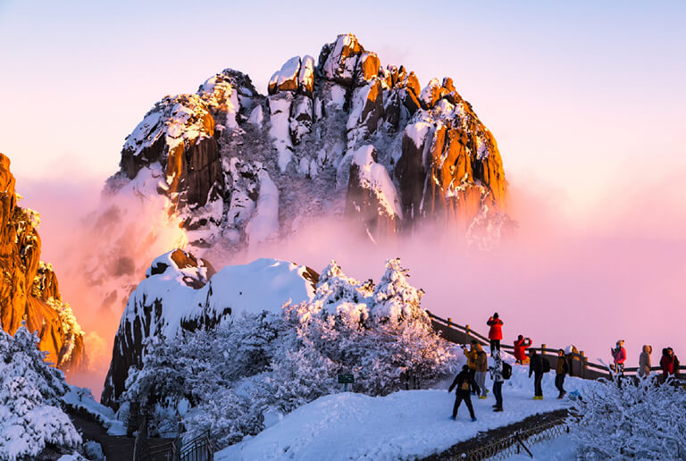 Celestial Capital Peak in Huangshan Mountain