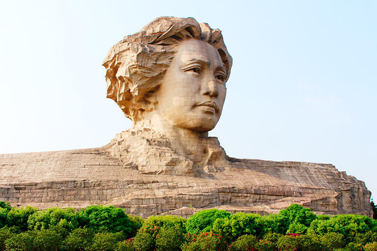 The Statue of Chairman Mao on the Orange Island