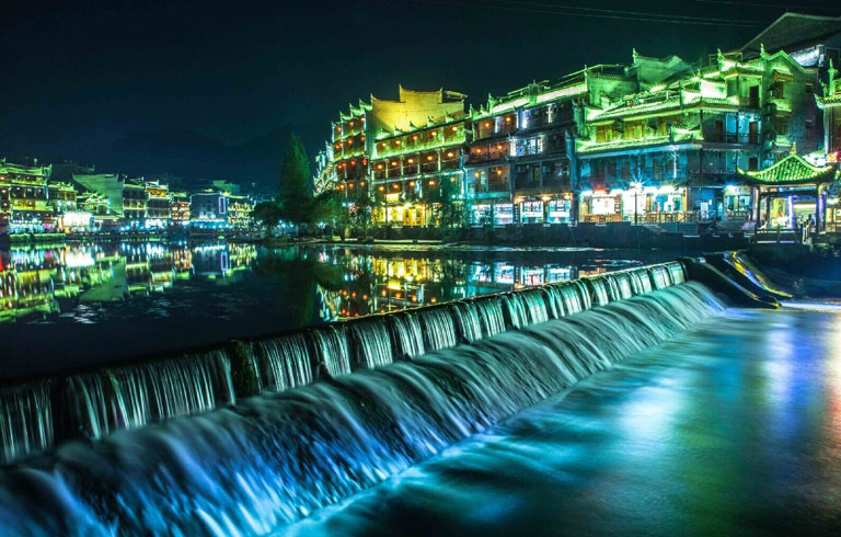 Fenghuang Ancient Town - Night  View