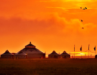 Sunrise on Inner Mongolia Grassland
