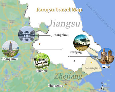 Jiangsu Travel Map