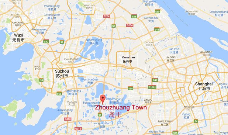 Kunshan China Map.Zhouzhuang Jiangsu China China S No 1 Water Town