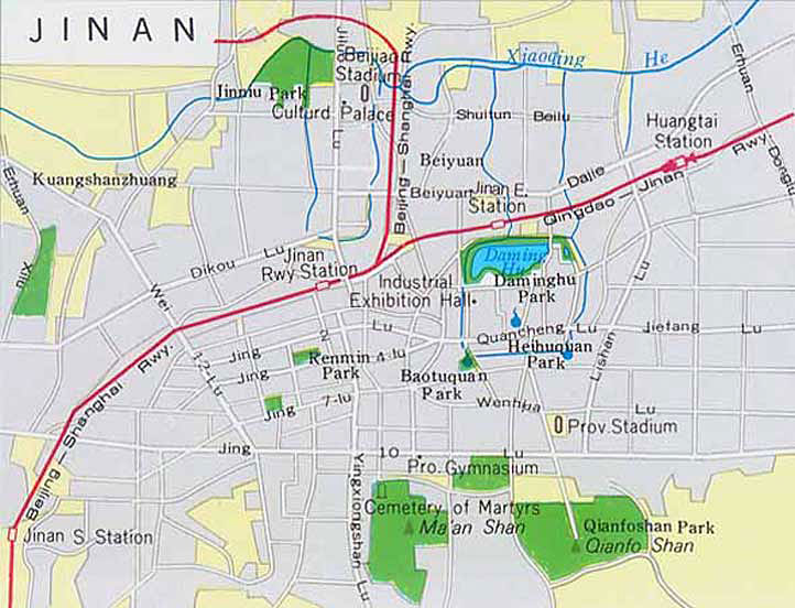Jinan China  City pictures : Jinan Maps: Jinan China Map & Jinan Shandong Map