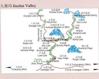 Jiuzhaigou Guide Map