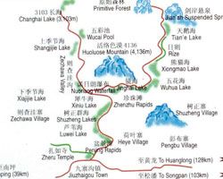 Jiuzhaigou Travel Map