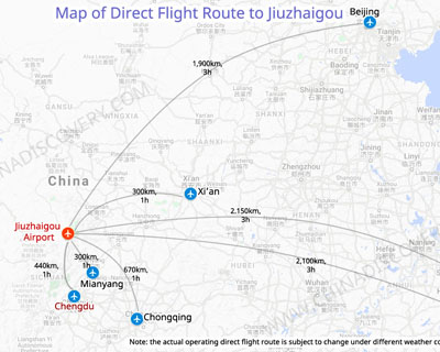 Jiuzhaigou Airport Location Map