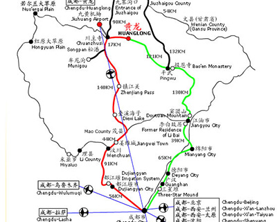 Jiuzhaigou Transportation Map