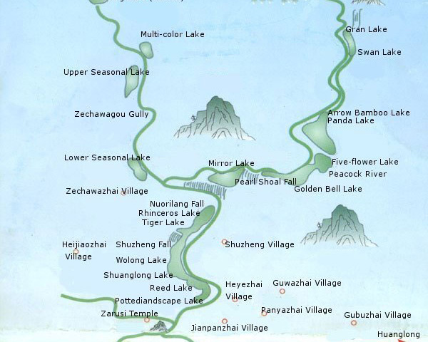 Huanglong Travel Map