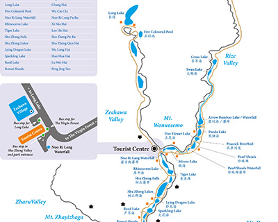 Jiuzhaigou Valley Tourist Map