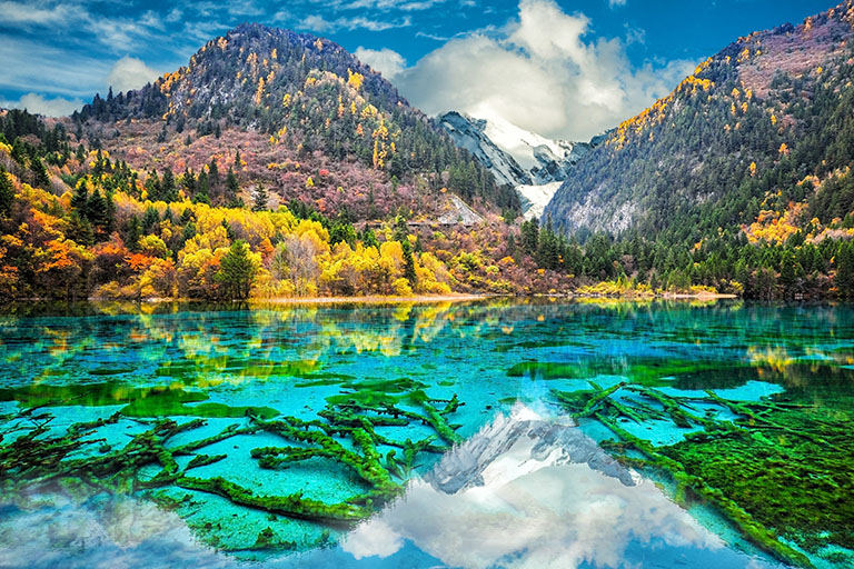 Five-color Lake in Rize Valley (October)