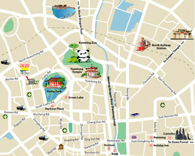 Kunming Attraction Map