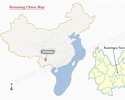 Kunming China Map Kunming Map: Map of Kunming China & Kunming Attractions Kunming China Map
