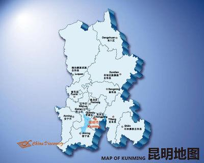 Kunming map map of kunming china kunming attractions kunming city map gumiabroncs Choice Image