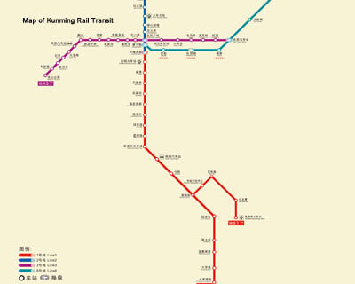 Chengdu Subway Map New Station.Chengdu Kunming Train Route Maps Stations Length Duration