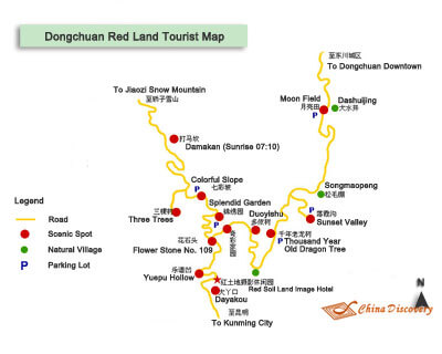 Map of Dongchuan Red Land