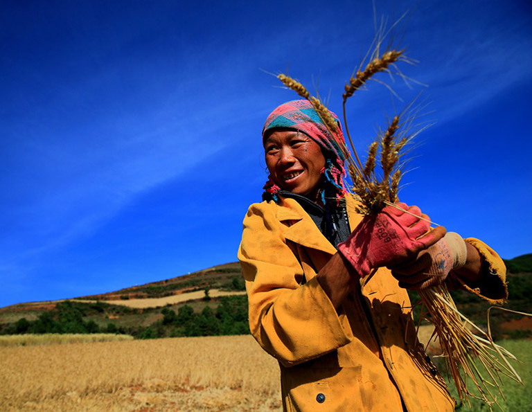 Local People at Dongchuan Red Land