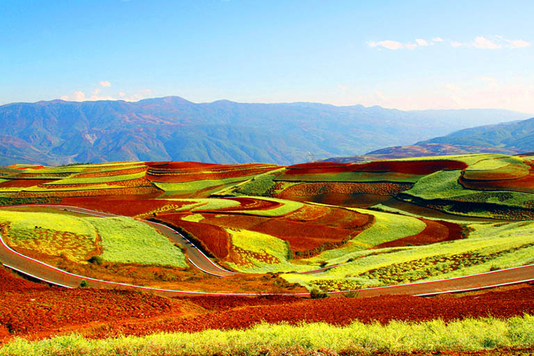 Dongchuan Red Land in Summer