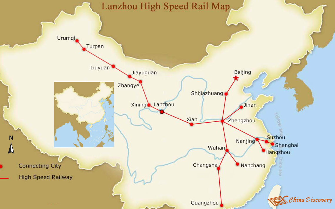 Lanzhou High Speed Rail Map