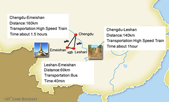 Leshan Emeishan Tours Map