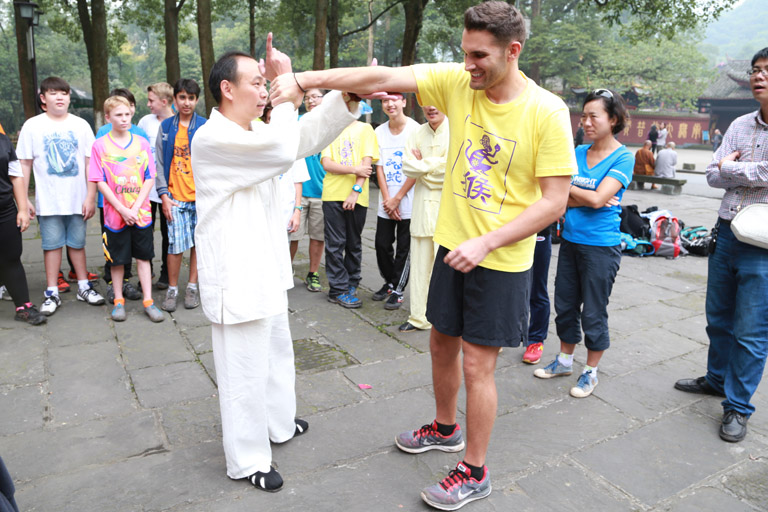 Learn Emei Kung Fu under teacher's instruction