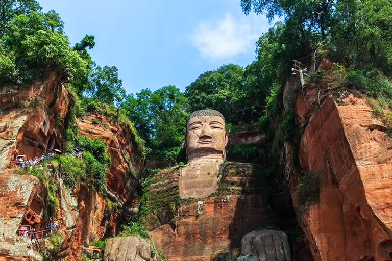 Look Giant Buddha from left side cliff