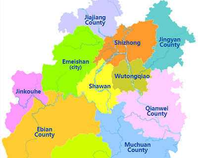 Leshan City Map
