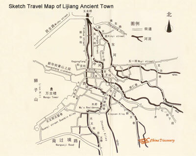 Map of Lijiang Old Town