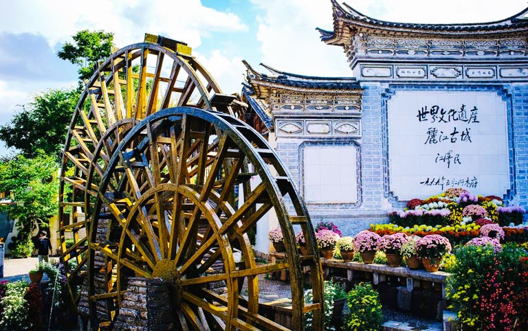 Lijiang Old Town Waterwheel