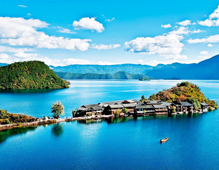 Lugu Lake Beautiful Lige Island