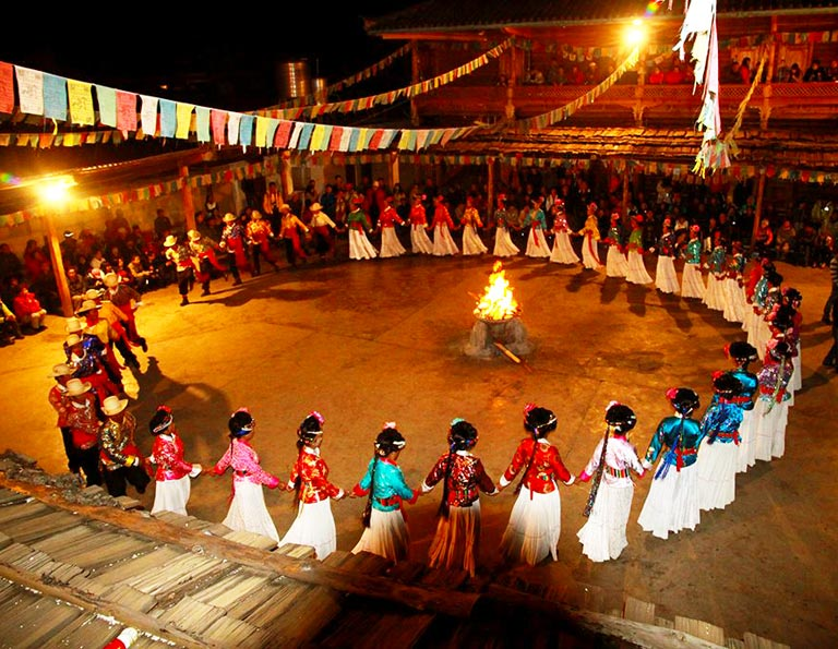 Lugu Lake Mosuo Bonfire Party