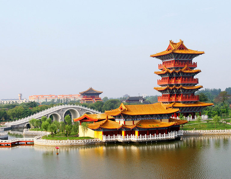 Millennium City Park in Kaifeng