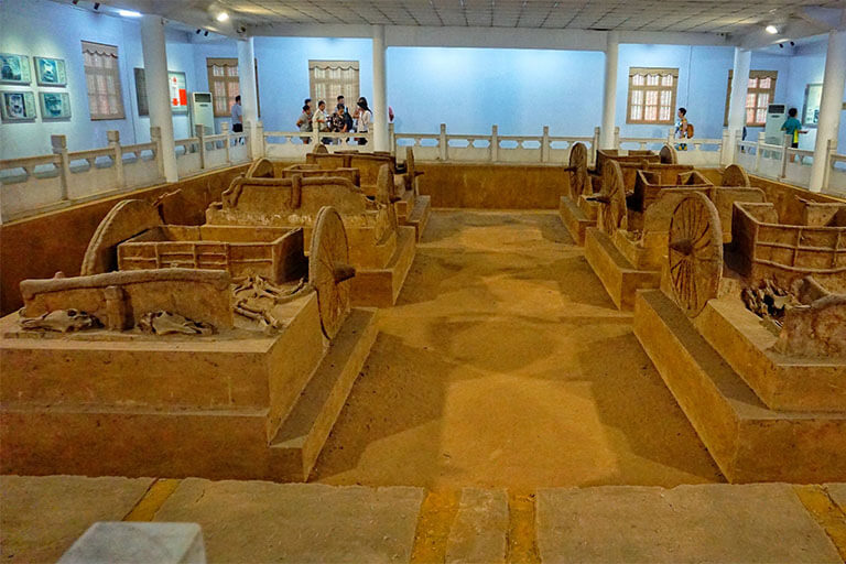 Chariot pits excavated in Yinxu