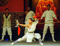 Martial Arts Evening Show in Shaolin Temple