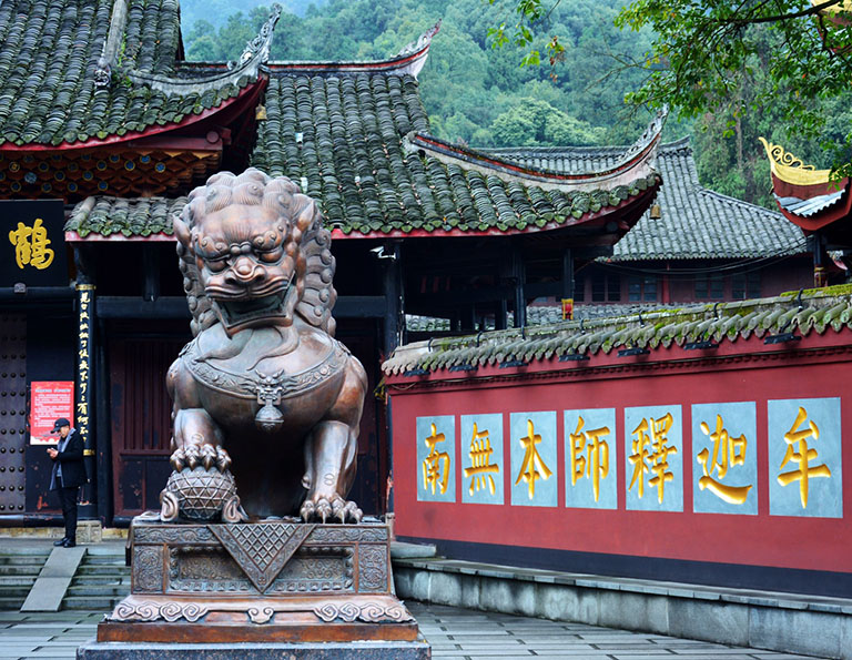 Baoguo Temple at the foot of Mount Emei