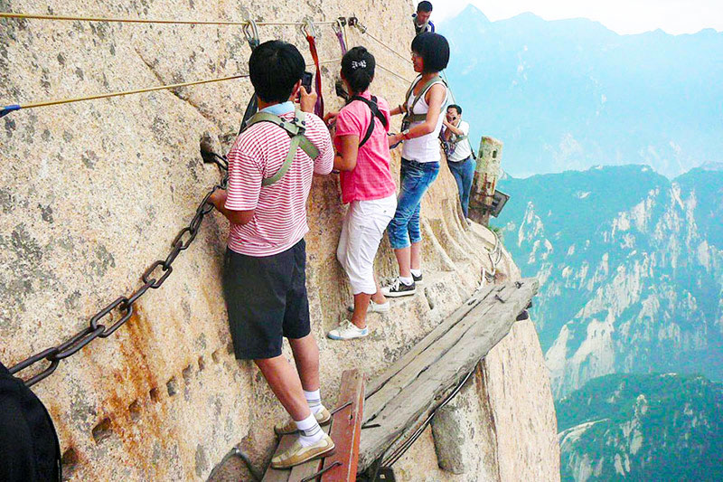 Changkong Plank Trail, Most Danderous at Huashan