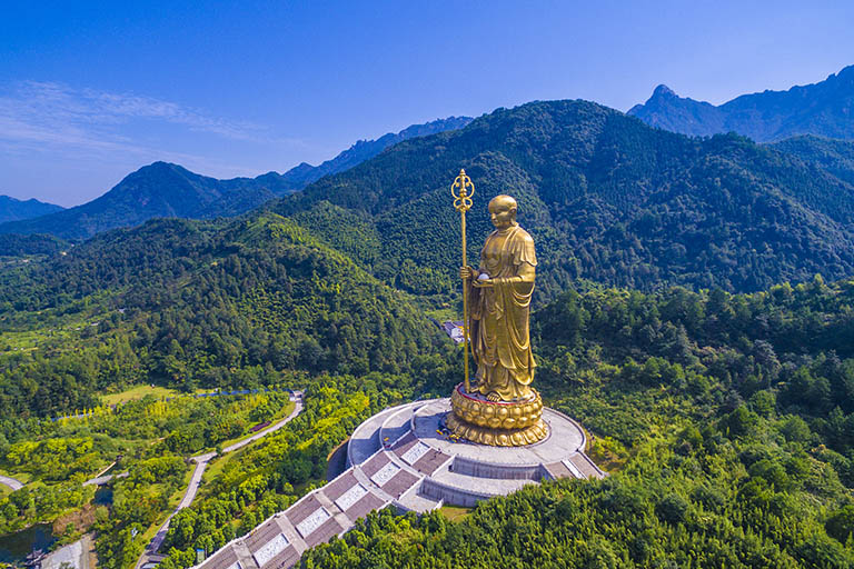 99-Meter Ksitigarbha Statue - the Highest Bronze Buddhist Statue in the World