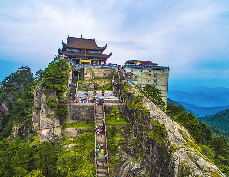 Tiantai Temple on the Summit of Tiantai Peak