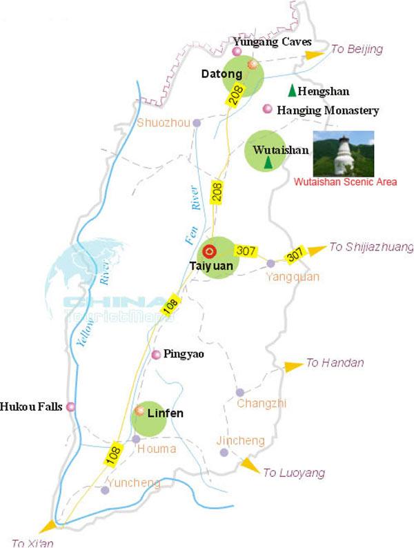 Wutaishan China  City new picture : Wutaishan Mount Wutai Map, China Wutaishan Map