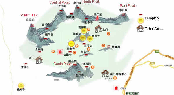 Wutaishan China  City pictures : Wutaishan Mount Wutai Map, China Wutaishan Map